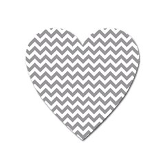 Grey And White Zigzag Magnet (Heart)