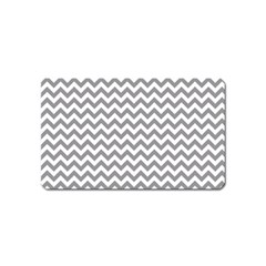 Grey And White Zigzag Magnet (Name Card)