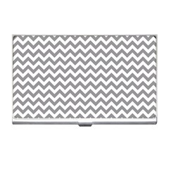 Grey And White Zigzag Business Card Holder