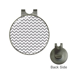 Grey And White Zigzag Hat Clip with Golf Ball Marker