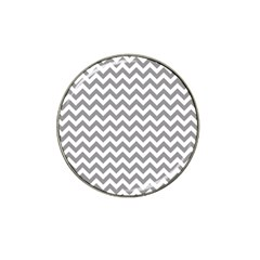 Grey And White Zigzag Golf Ball Marker 4 Pack (for Hat Clip)
