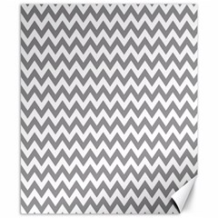Grey And White Zigzag Canvas 8  X 10  (unframed)