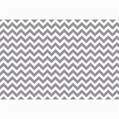 Grey And White Zigzag Canvas 12  x 18  (Unframed)