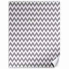 Grey And White Zigzag Canvas 18  x 24  (Unframed)