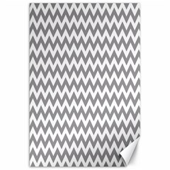 Grey And White Zigzag Canvas 20  x 30  (Unframed)