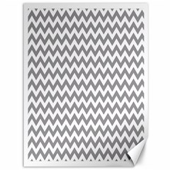 Grey And White Zigzag Canvas 36  x 48  (Unframed)