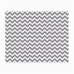 Grey And White Zigzag Glasses Cloth (Small, Two Sided)