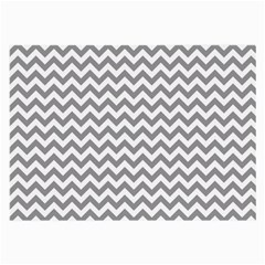 Grey And White Zigzag Glasses Cloth (large, Two Sided)