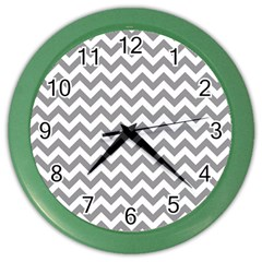 Grey And White Zigzag Wall Clock (color)
