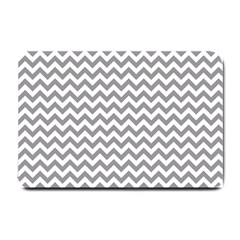 Grey And White Zigzag Small Door Mat