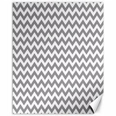Grey And White Zigzag Canvas 11  x 14  (Unframed)