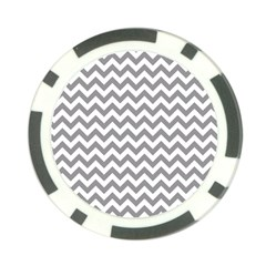 Grey And White Zigzag Poker Chip