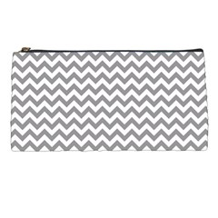 Grey And White Zigzag Pencil Case