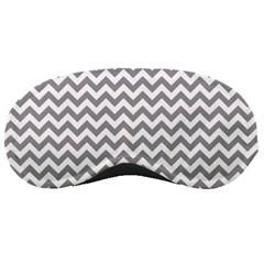 Grey And White Zigzag Sleeping Mask
