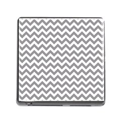 Grey And White Zigzag Memory Card Reader With Storage (square)