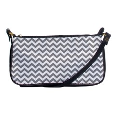 Grey And White Zigzag Evening Bag