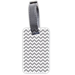 Grey And White Zigzag Luggage Tag (Two Sides)