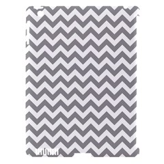 Grey And White Zigzag Apple iPad 3/4 Hardshell Case (Compatible with Smart Cover)