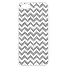 Grey And White Zigzag Apple Iphone 5 Seamless Case (white)