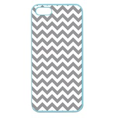 Grey And White Zigzag Apple Seamless Iphone 5 Case (color)