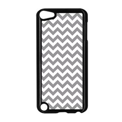 Grey And White Zigzag Apple iPod Touch 5 Case (Black)