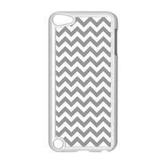 Grey And White Zigzag Apple Ipod Touch 5 Case (white)