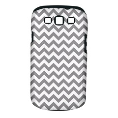 Grey And White Zigzag Samsung Galaxy S III Classic Hardshell Case (PC+Silicone)