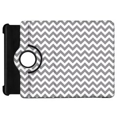 Grey And White Zigzag Kindle Fire HD 7  (1st Gen) Flip 360 Case