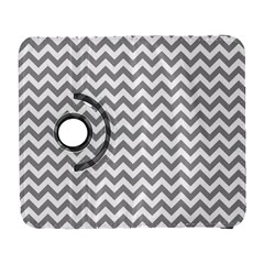 Grey And White Zigzag Samsung Galaxy S  III Flip 360 Case