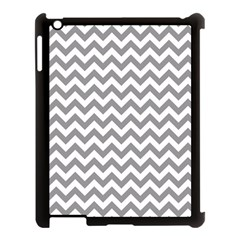 Grey And White Zigzag Apple Ipad 3/4 Case (black)