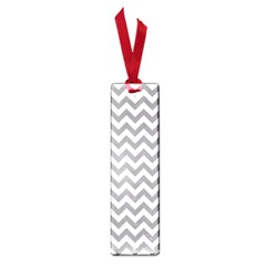 Grey And White Zigzag Small Bookmark