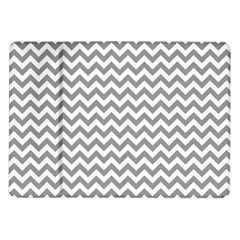 Grey And White Zigzag Samsung Galaxy Tab 10.1  P7500 Flip Case