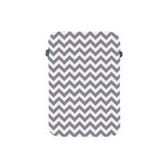 Grey And White Zigzag Apple iPad Mini Protective Sleeve