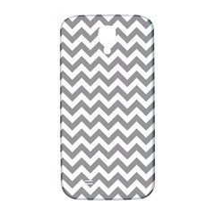Grey And White Zigzag Samsung Galaxy S4 I9500/I9505  Hardshell Back Case