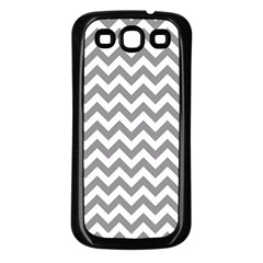 Grey And White Zigzag Samsung Galaxy S3 Back Case (black)