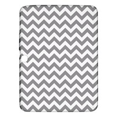 Grey And White Zigzag Samsung Galaxy Tab 3 (10 1 ) P5200 Hardshell Case