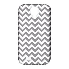 Grey And White Zigzag Samsung Galaxy S4 Classic Hardshell Case (PC+Silicone)