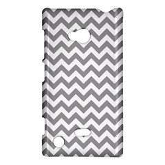 Grey And White Zigzag Nokia Lumia 720 Hardshell Case