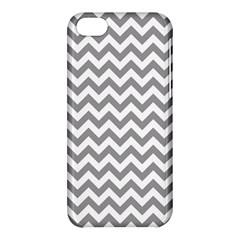 Grey And White Zigzag Apple iPhone 5C Hardshell Case