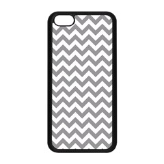 Grey And White Zigzag Apple iPhone 5C Seamless Case (Black)