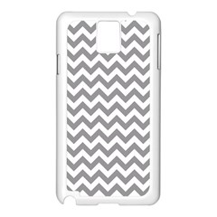 Grey And White Zigzag Samsung Galaxy Note 3 N9005 Case (White)