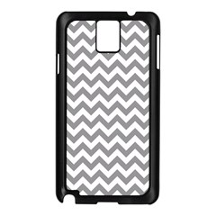 Grey And White Zigzag Samsung Galaxy Note 3 N9005 Case (Black)