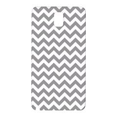 Grey And White Zigzag Samsung Galaxy Note 3 N9005 Hardshell Back Case