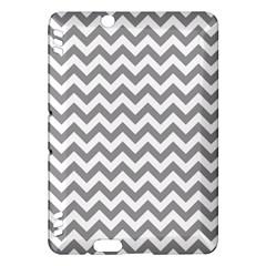 Grey And White Zigzag Kindle Fire HDX 7  Hardshell Case