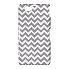 Grey And White Zigzag Sony Xperia Z1 Compact Hardshell Case