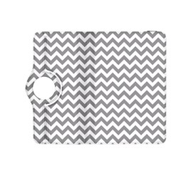 Grey And White Zigzag Kindle Fire HDX 8.9  Flip 360 Case