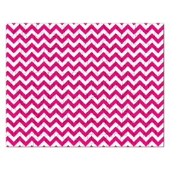 Hot Pink And White Zigzag Jigsaw Puzzle (Rectangle)