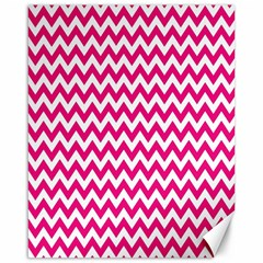 Hot Pink And White Zigzag Canvas 16  x 20  (Unframed)