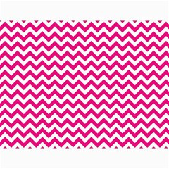 Hot Pink And White Zigzag Canvas 18  x 24  (Unframed)
