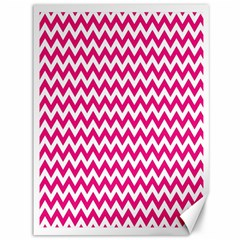 Hot Pink And White Zigzag Canvas 36  x 48  (Unframed)